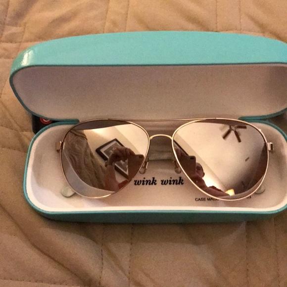 deb7dc0e9aa kate spade Accessories - Kate Spade Rose Gold BLOSSOM Aviator Sunglasses